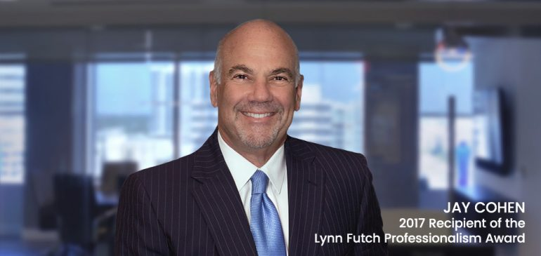 Jay Cohen Recibe el Honor Lynn Futch Professionalism Award 2017