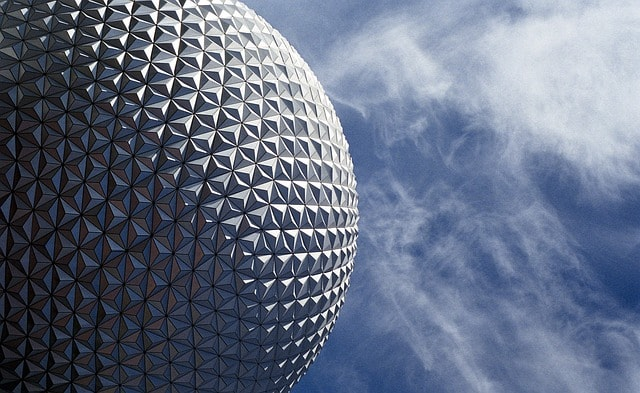 Foto del globo de Epcot en Orlando Florida