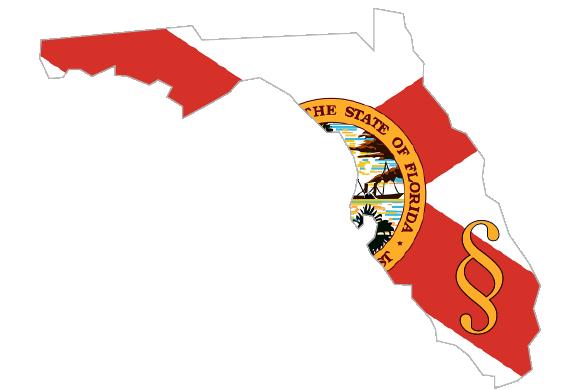 imagen de la bandera del estado en la forma de la Florida