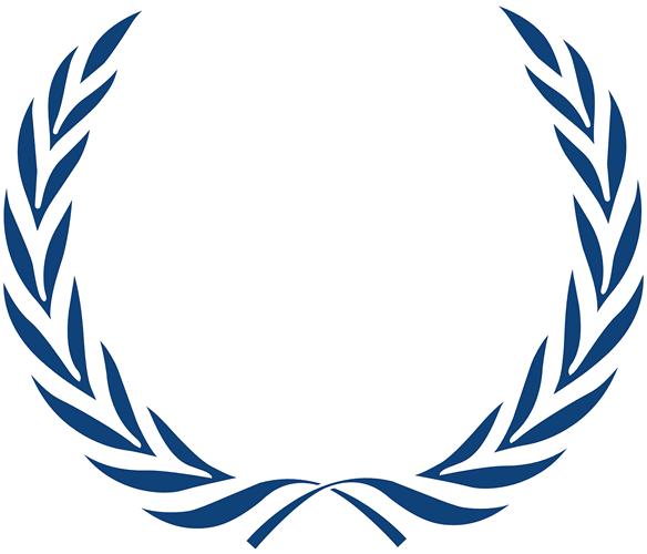 imagen de hojas de laurel azul sobre fondo transparente